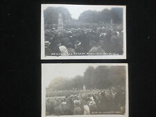 WW1 RPPC PHOTOGRAPHS   GERMAN VICTORY MONUMENT LIBAU LATVIA BEING DESTROYED 1919