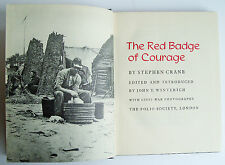 THE RED BADGE OF COURAGE Stephen Crane 1951 Folio Society VGC American Civil War