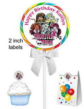 40 MONSTER HIGH BIRTHDAY PARTY FAVORS LOLLIPOP STICKERS ~ goody bags, seals ETC