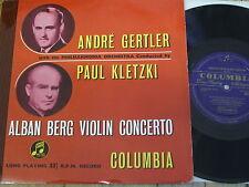 """33C 1030 Berg Violin Concerto / Gertler GROOVED B/G 10"""" LP"""