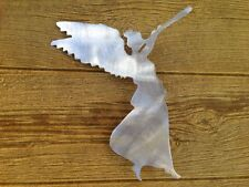 Angel Handcrafted Metal Christmas Tree Topper, Holiday or Wreath Decoration