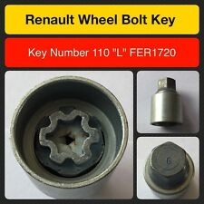 "Genuine Renault locking wheel bolt / nut key FER1720 110 ""L"""