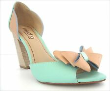 New Miucha  heeled  womens leather shoes size US 7 EUR 38 made in Brazil