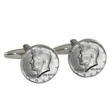 Kennedy Half Dollar Cufflinks Gift Boxed 1966 silver John F coin 50 cent NEW