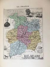 LA FRANCE ET SES COLONIES DEPARTEMENT DE L' ILLE ET VILAINE VOIR DESCRIPTIF