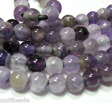 """Amethyst 8mm Round 2.5mm Large Hole Beads 8"""" Chain Leather Cord Wire"""
