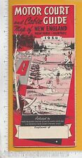 8107 Motor Court Cabin Guide 1954 New England, NY, Quebec map Roadside America