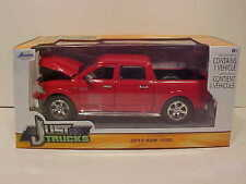 2014 Dodge Ram 1500 Pickup Truck Diecast 1:24 Jada Toys 8 inch Red