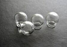 4 Glass Hollow Hand Blown Globe Cabochons 18mm Empty Balls 10mm hole