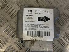 2001 2.0 DTI VAUXHALL ASTRA G MK4 ESTATE AIR SRS UNIT BAG ECU 24416703 DL