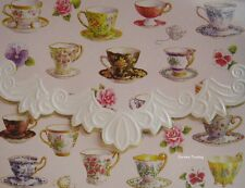 Carol Wilson Stationery 10 Blank Note Cards Envelopes Tea Cups Teacups