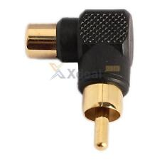 XD#3 RCA Male to Female M/F Connector 90 Right-angle Adapter Audio AV Plug