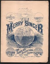 The Merry Singer 1891 Singer Sewing Machine Advertisement