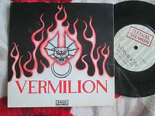 "Vermilion Angry Young Women Illegal Records ILM 0010 P/S UK 7"" 45 Vinyl Single"