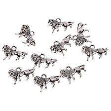 10pcs New Tibetan Silver Lion shape Bead charms Pendants fit bracelet  17*10mm