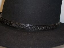 Black Leather Hat Band Western Cowboy Leather Millinery Supplies [II]