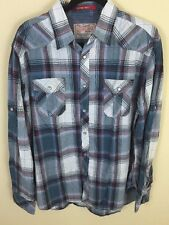 NWT Jefferey Max Western Pearl Snap Shirt Men's Size L