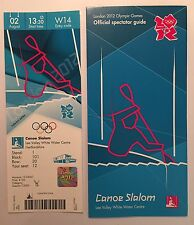 LONDON 2012 TICKET CANOE SLALOM TEAM GB GOLD & SILVER 2 AUG & SPECTATOR GUIDE