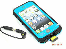 WATERPROOF SHOCKPROOF DIRTPROOF CASE FOR APPLE iPHONE 5 5S W/ TOUCH ID - TEAL