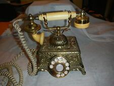 Vintage Onyx Model DUKE IMPERIAL Ornate French Style Rotary Phone Telephone