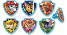 Paw Patrol Cupcake Rings 24pcs Cake Toppers Party Favors