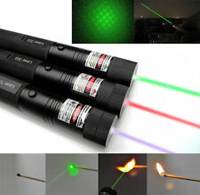 Lot of 3  5mw HP Laser Pointer Lazer Beam + Wall Charger  Green, Blue, Red - 303