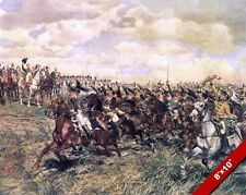 CAVALRY SALUTING NAPOLEON PAINTING MILITARY HISTORY WAR ART REAL CANVAS PRINT