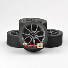 4PCS Competition Foam Tires & Rims 12mm Hex  Set For 1:10 On-road RC Car 23003