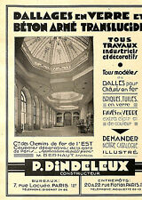 PARIS DALLAGES EN VERRE DINDELEUX, CLOTURES SAMCA PUBLICITE 1931