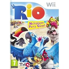 RIO=NINTENDO Wii=GAME OF THE FILM=BRAZIL=CARNAVAL=40 MINI GAMES=BLU=U=PARTY GAME