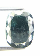 4.20TCW Oval Shape Gray Green Blue Color Rose Cut Antique Natural Loose Diamond