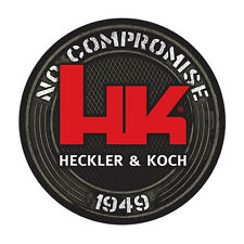 "HK Black Decal 1949, Heckler & Koch ""No Compromise"" HK416 MR556 MR762 P30 USP"