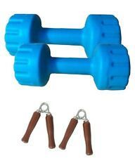 Aurion Pvc Dumbbell Set Of 6 Kg (3 Kg X 2) Perfect Home Gym And Fitness