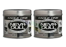 2 EAGLE ONE NEVER NEVR DULL WADDING CAR POLISH BRITESHINE CHROME METAL ALUMINIUM