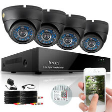 Funlux 4 Indoor Outdoor IR Home Surveillance Camera System 8 CH 960H HDMI DVR