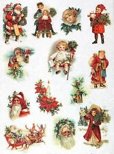 Rice Paper for Decoupage Decopatch Scrapbook Craft Sheet Vintage Christmas Small