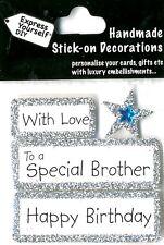 Joyeux anniversaire avec amour spécial frère Bricolage Carte de vœux Toppers