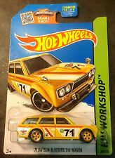 Hot Wheels  Super CUSTOM Datsun Bluebird Wagon with Real Riders