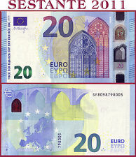 "(com) EUROPEAN UNION  ITALY 20 EURO 2015 Sign DRAGHI  ""SF""  S012H1 - P 22s - UNC"