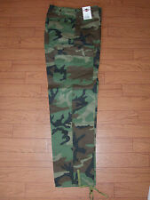U.S MILITARY STYLE WOODLAND CAMOUFLAGE BDU PANTS CAMOUFLAGE PANTS COTTON TWILL