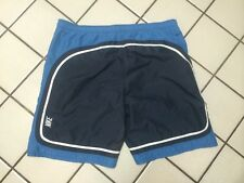 NIKE Board Shorts_Swim Wear_Navy, Gray White Stripe Swoosh Logo_Mens XXL