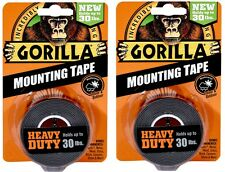 Gorilla Tape 6055001 HEAVY DUTY Mounting Tape, Holds up to 30LB - 2 PACK