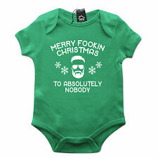 Conor McGregor Merry Christmas Fookin Nobody Funny Babygrow Gift Baby Grow CH43