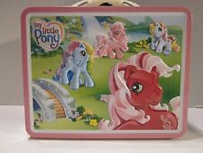 NWT - MY LITTLE PONY Metal LunchBox - 2007 Mint  - Images Raised on Front