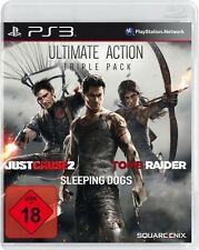 Playstation 3 Ultimate Triple Pack Tomb Raider Just Cause 2 Sleeping Dogs Top Zu
