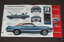 1972 OLDSMOBILE 4-4-2 442 W-30 Muscle Car SPEC SHEET BROCHURE PHOTO BOOKLET