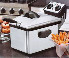 Waring DF200 Professional Deep Fryer, Brushed Stainless Steel df-200