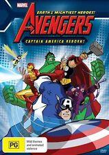 Marvel : The Avengers - Captain America Reborn (DVD, 2011) BRAND NEW! Free Post