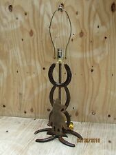 Western Rustic Horseshoe Lamp With Cowboy Rider Home Decor Lodge Horse Cowgirl