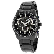 Citizen Perpetual Chrono A-T Black Dial Mens Watch AT4007-54E